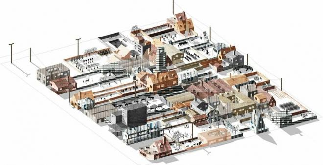 Davidson Rafailidis. Free Zoning: Radical Deregulation & Material Reuse, 2014.  Animation still. Image courtesy of the architects.