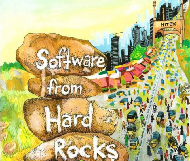 "Graphic for the film ""Software from Hard Rocks"""