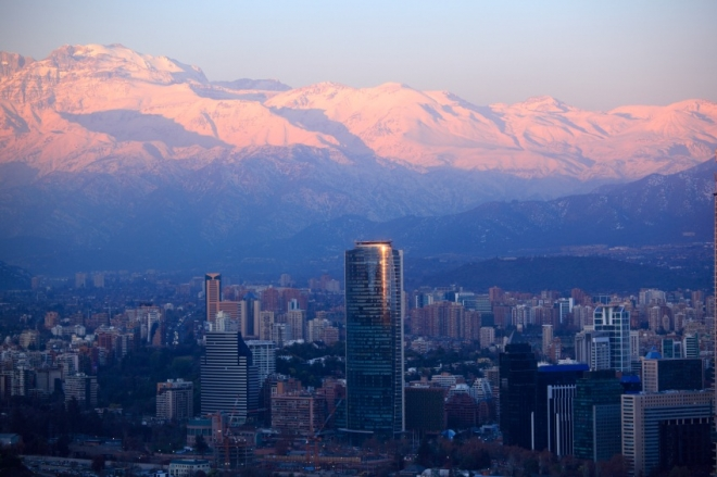 Skyline of Santiago, Chile