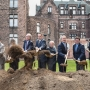 Groundbreaking for the Lipsey Buffalo Architecture Center and Hotel Henry.  Credit Joe Cascio