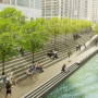 Fun: The proposed River Theater section of the Chicago Riverwalk. Photo: Sasaki Associates and Ross Barney Architects