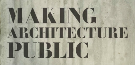 """Making Architecture Public: on Exhibiting Architecture"" [Intro graphic for news article]"